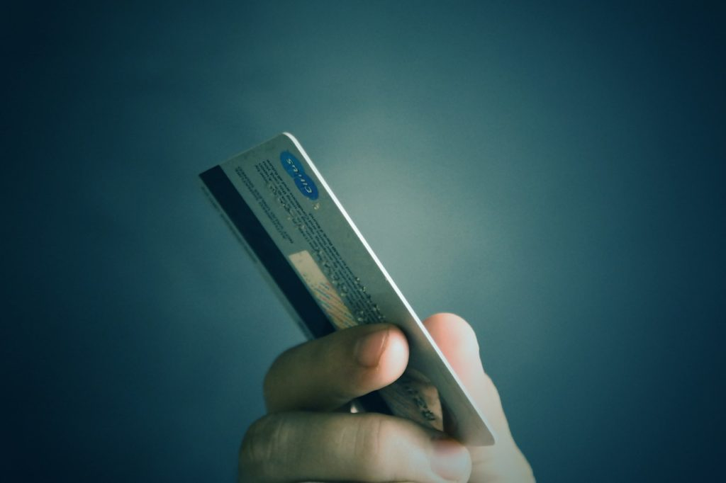 credit card to purchase a money order
