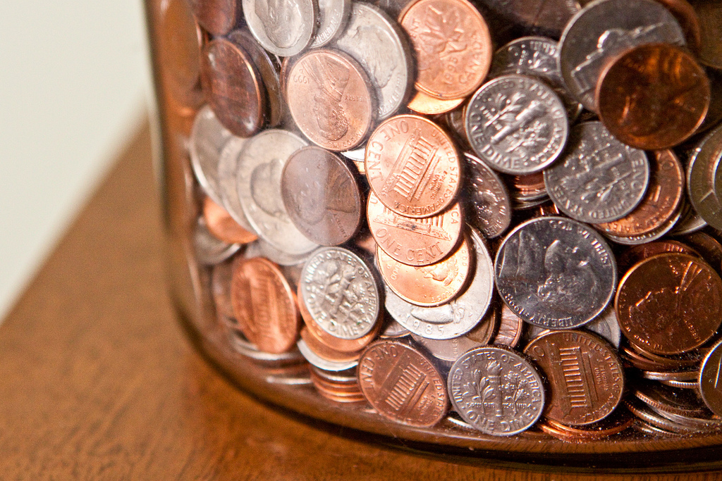 dimes in a roll of coins